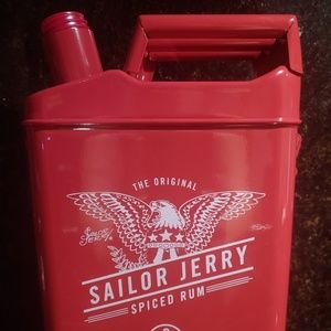 Rare Tattoo Sailor Jerry Red Spiced Rum Gas Can